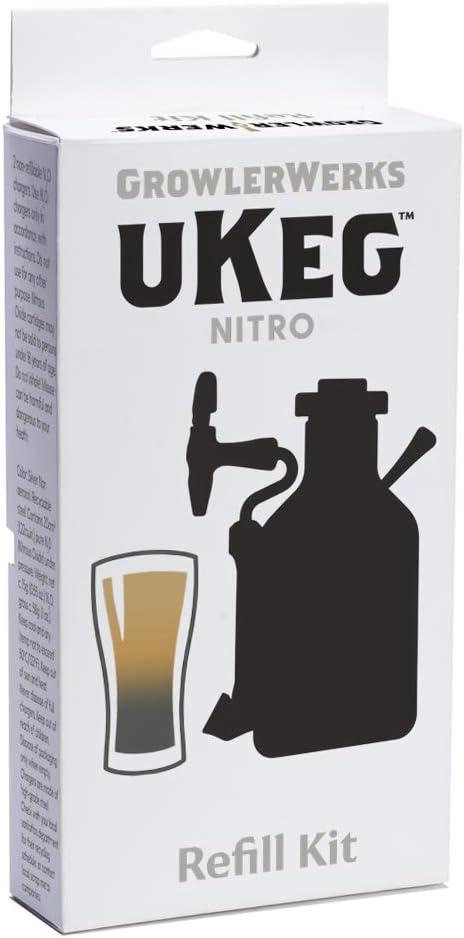 GrowlerWerks uKeg Nitro Refill Kit, cold brew supplies, White