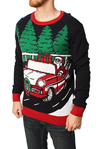 Santa's Red Sled Pullover Sweater