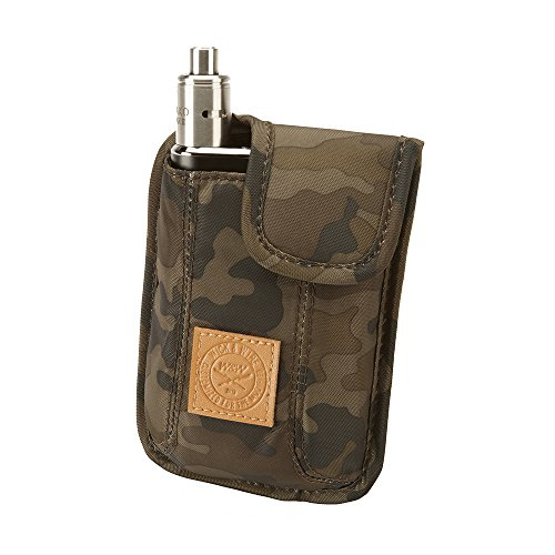 Vape Carrying Case for Travels  Secure, Organized, Premium Vapor Bag  Fits Large Mechanical Box Mods, e-Juice, Battery, Tank Holder & Accessories  Wick and Wire (El Cajon Camo)