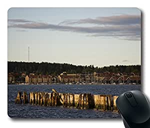 Evening Light Over Harbour Mouse Pad Desktop Laptop Mousepads Comfortable Office Mouse Pad Mat Cute Gaming Mouse Pad