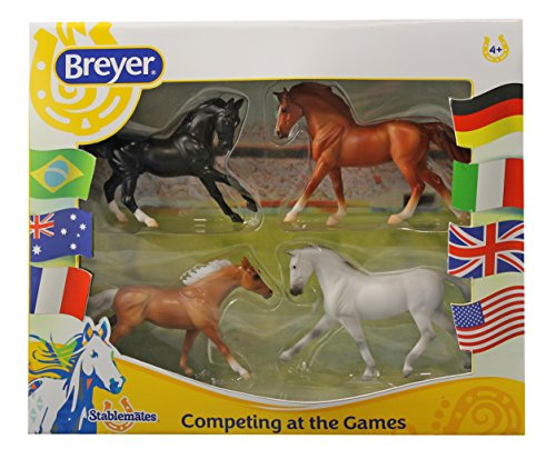 Breyer Stablemates Competing at the Games Four Horse Set