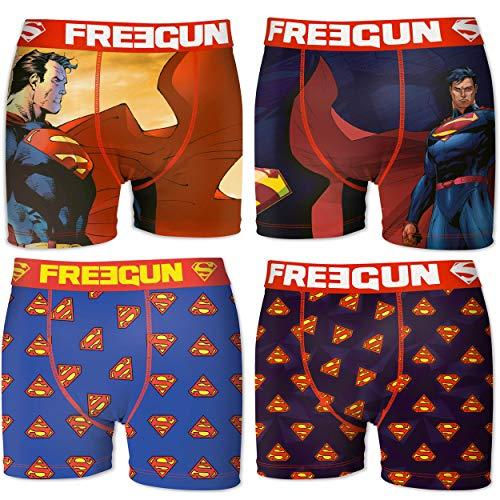 FREEGUN 3pcs Set Boxers Briefs Assortment Superman Size L