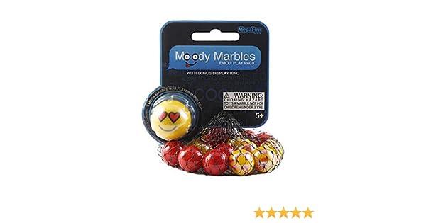 Amazon.com: Love Moody Mibster Marbles Emoji Play Pack with Bonus Display Ring: Toys & Games