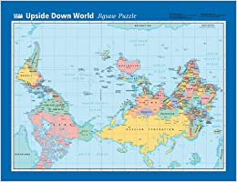 Upside down world map amazon hema 9781865002590 books flip to back flip to front gumiabroncs Image collections