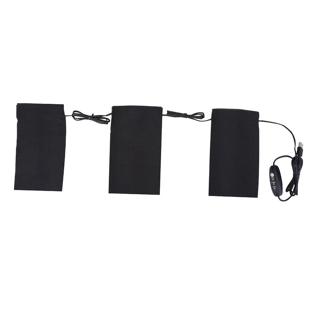Almohadilla de calefacción eléctrica Almohadilla eléctrica calor, 5V 2A 8.5W Electric USB Clothes Calefacción Heat Heat Pads Set para el exterior de ...