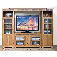 Sunny Designs Sedona 42 TV Stand in Rustic Oak