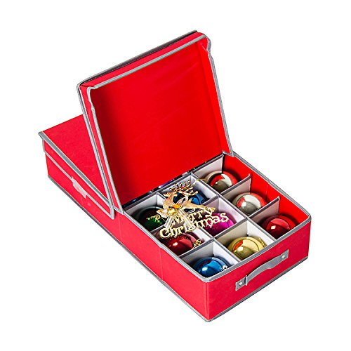 The Box Is Able To Store And Protect 21+ Ornaments And Includes 9 Large  Spaces And 12 Standard Spaces. It Features Cardboard Dividers That Are Easy  To ...