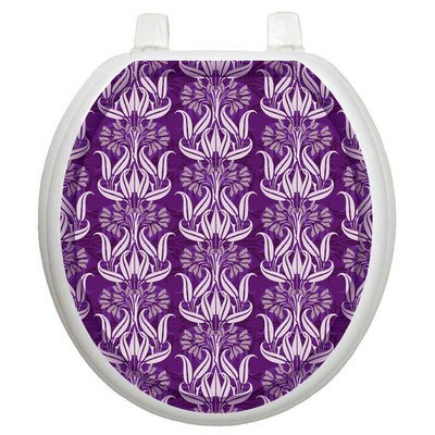 Toilet Tattoos Bell Flowers in Plums Design Toilet Seat Applique