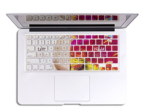 Herngee Left and Right Brain MacBook Keyboard Cover Compatible with MacBook Air 13 MacBook Pro 13 15 17 (with or Without Retina Display) and iMac Wireless Keyboard