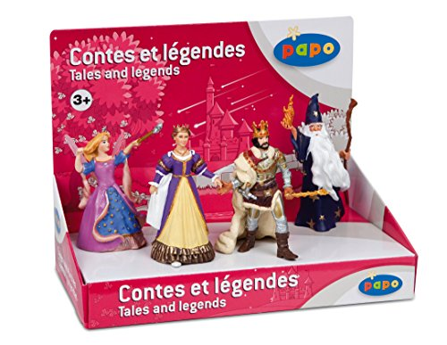 Papo Tales and Legends Box Set 2 -  King, Queen, Fairy, Wizard