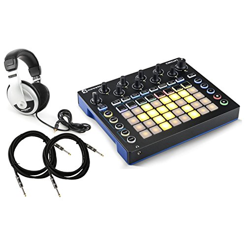 Novation Circuit 4x8 Grid Groove Box w/ Headphones and 2 Cables by Novation