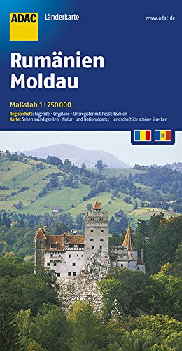 ADAC Länderkarte Rumänien, Moldau 1:750.000 (ADAC Länderkarten) Broschiert – 4. Mai 2017 3826423518 Karten / Stadtpläne / Europa Moldawien Moldawien / Landkarte