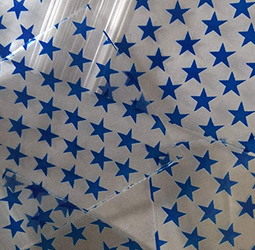 """200-2"""" x 3"""" Blue Star Design Small Plastic Ziplock Baggies"""