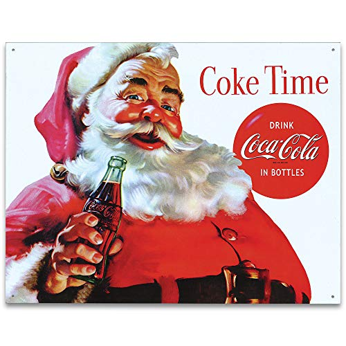 Desperate Enterprises Coca-Cola - Santa Claus - Coke Time Tin Sign, 16