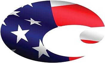 Costa Del Mar Logo American Flag Decal