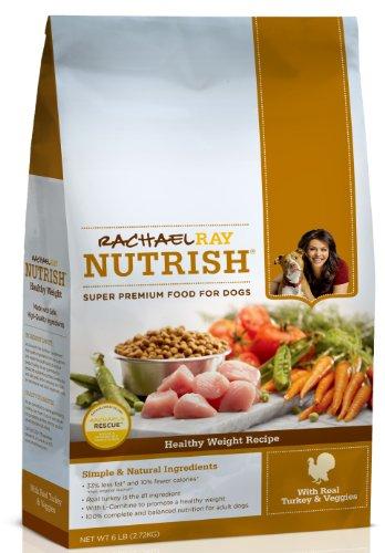 Rachael Ray Nutrish Healthy Weight Dry Dog Food, Turkey Recipe, 6-Pound Bag, My Pet Supplies
