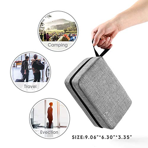 Mens Toiletry Bag Hanging Travel Shaving Dopp Kit Waterproof Organizer Bag Perfect Travel Accessory Gift (Gray)