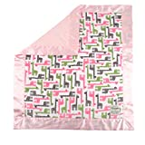 My Blankee Giraffe Zoo Minky Fuchsia w/ Minky - Best Reviews Guide