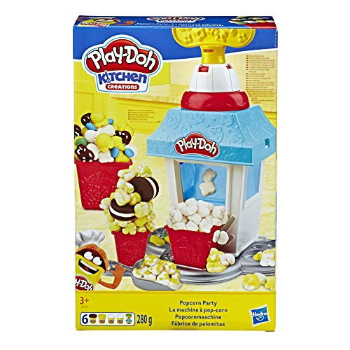 Play-Doh Kitchen Creations Popcorn Party Play Food Set with Six Non-Toxic Play-Doh Pots