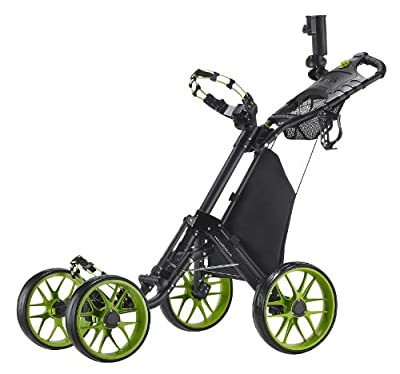 CaddyTek One-Click Folding 4 Wheel Version 3 Golf Push Cart by Amazon.com, LLC *** KEEP PORules ACTIVE ***