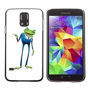 """For Samsung Galaxy S5 , S-type Playboy Playa de negocios de la rana"""" - Arte & diseño plástico duro Fundas Cover Cubre Hard Case Cover"""