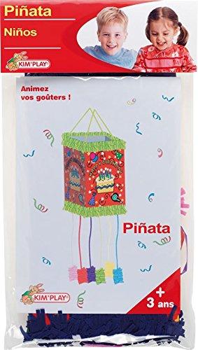 Kim'Play 12610 - Piñata cuadrada, diseño tarta de cumpleaños (no rellena) Kim'Play