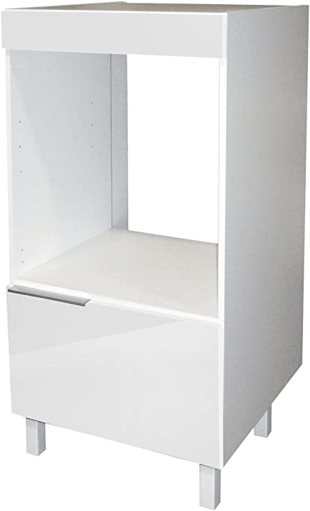 Berlioz Creations Cd6fb Meuble Demi Colonne Pour Four Encastrable Blanc Haute Brillance 60 X 60 X 118 Cm Amazon Fr Cuisine Maison