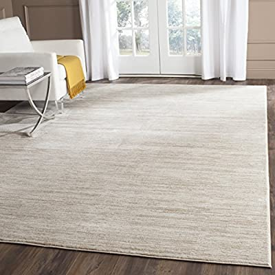 Safavieh Vision Collection VSN606F Cream Area Rug (8' x 10') - Tone-on-tone colors give these rugs a clean contemporary vibe Versatile enough to decorate the bedroom, dining room, living room, foyer, or home office Refined power-loomed construction and enhanced polypropylene fibers ensure an easy-care and virtually non-shedding rug - living-room-soft-furnishings, living-room, area-rugs - 51TcVNch57L. SS400  -