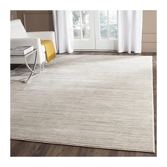 Safavieh Vision Collection VSN606F Cream Area Rug (8' x 10') - Tone-on-tone colors give these rugs a clean contemporary vibe Versatile enough to decorate the bedroom, dining room, living room, foyer, or home office Refined power-loomed construction and enhanced polypropylene fibers ensure an easy-care and virtually non-shedding rug - living-room-soft-furnishings, living-room, area-rugs - 51TcVNch57L. SS570  -