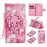 Lomogo Sony Xperia X Performance Leather Wallet Case with Kickstand Credit Card Holder Magnetic Closure Shockproof Flip Case Cover for Sony Xperia X Performance - LOKTU20567 #7