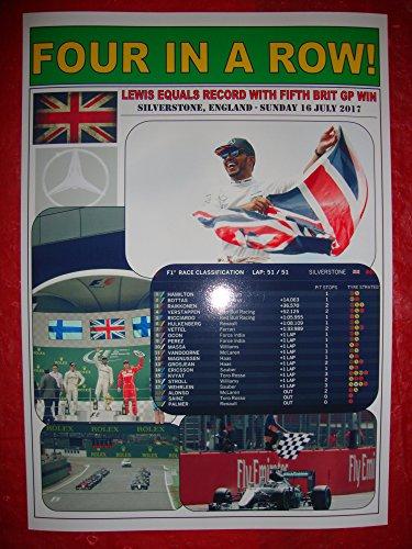 (Lewis Hamilton 2017 British Grand Prix winner Silverstone - souvenir print )