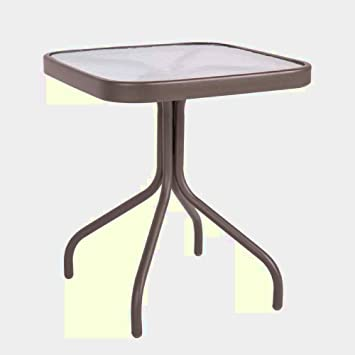 Stupendous Stainless Steel Bistro Table Small Garden Dining Glass Side Download Free Architecture Designs Aeocymadebymaigaardcom