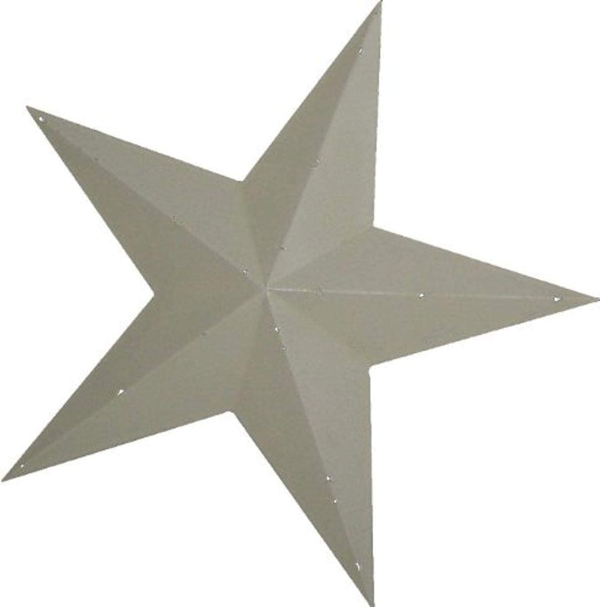 Craft Outlet Tin Star Wall Decor, 30-Inch, Off-White