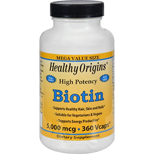 Healthy Origins Biotin - 5000 mcg - 360 Vcaps (Pack of 2) by Healthy Origins