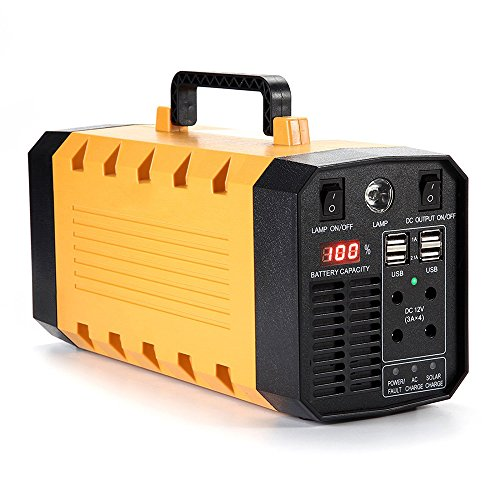 BChocks 500W 288WH 26AH UPS Backup Battery Portable Generator Parts Emergency Power Battery Supply For CPAP Mask Home Camping Laptop Sine Wave Charged By Solar/AC Outlet/Car For Outdoor&Indoor ()