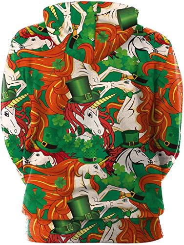 Rossa Green Gialla San Casuale Stampata Con Festa Manica Criniera 3d Felpa E Flychen Costume A Donna Lunga Per Alla Cappuccio Moda Patrizio Irish nxgU0wRBqC