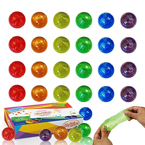 - ChefSlime | Jumbo Pack | 24 PCS | Fluffy & Stretchy Mud Egg Slime Putty - Non Sticky, Stress & Anxiety Relief, Super Soft | Party Favor Kids Adults | 6 Colors Included