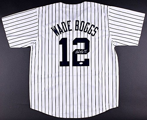 (Wade Boggs Autographed Signature Hall of Fame 2005 New York Yankees Jersey - JSA Certified)