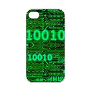 iPhone 4 4S Case Cover - Funny Binary Code iPhone 4 4S TPU (Laser Technology) Case Rubber Sides Shell