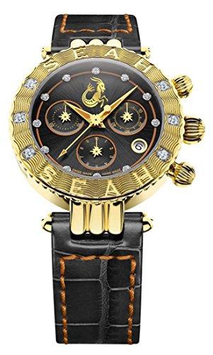 Seah-Galaxy-Zodiac-sign-Capricorn-Limited-Edition-38mm-18K-Yellow-Gold-Tone-Swiss-Made-12-carat-Diamond-Watch