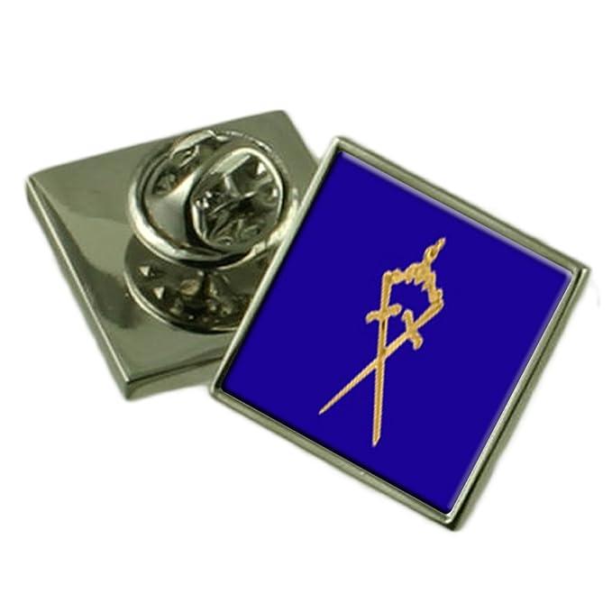 El Protector interior masónica Insignia Insignia de solapa grabada cuadro personalizado