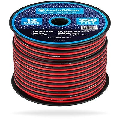 InstallGear 12 Gauge Speaker Wire (250-feet - Red/Black): Home Audio & Theater