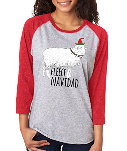 SignatureTshirts Womens Christmas Fleece Navidad T Shirt M Red ()