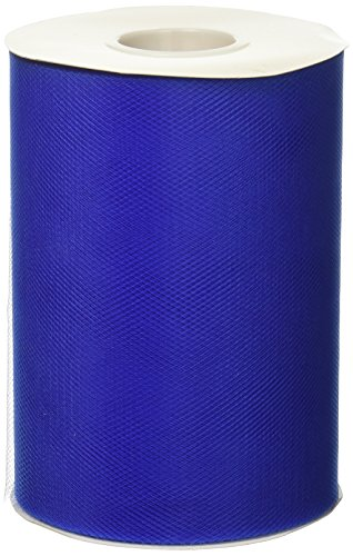 - BBCrafts Royal Blue Polyester Tulle Roll 6 inch 100 Yards