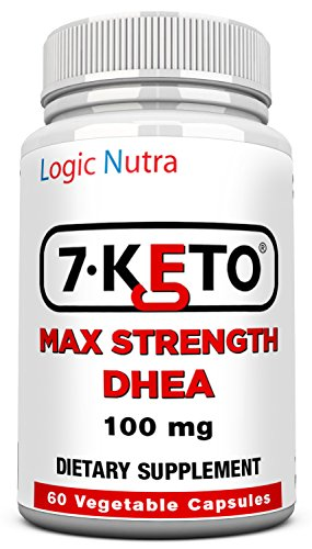 7 Keto DHEA 100 mg 60 Vegetable capsules per bottle-maximum strength - Satisfaction Guaranteed or your money back no questions asked!