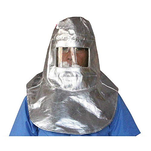 LANTAO Thermal Radiation 1000 Degree Heat Resistant Aluminized Suit Fireproof Cap by LANTAO (Image #3)