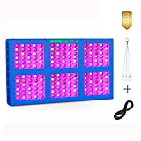 MEIZHI 900W LED Growing Light,Reflector Plants Lamps Dual Switches Full Spectrum Daisy Chain Hydroponic for Indoor Greenhouse Tent Veg Flowers - 180pcs LEDs