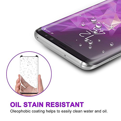 [2 - Pack] Samsung Galaxy S9 Plus Screen Protector, OLINKIT [9H Hardness][Anti-Fingerprint][Ultra-Clear][Bubble Free] Tempered Glass Screen Protector Galaxy S9 Plus by OLINKIT (Image #3)