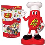 (Set) Mr Jelly Belly Dispenser And 40 Delicious Flavor Bean Candy Assortment