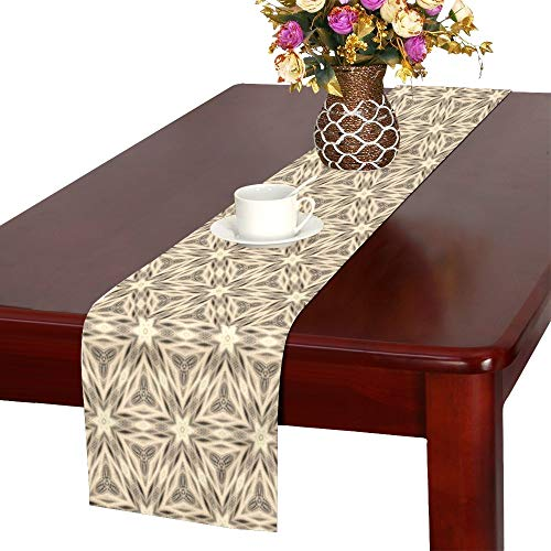 QYUESHANG Kaleidoscope Digital Art Structure Pattern Table Runner, Kitchen Dining Table Runner 16 X 72 Inch for Dinner Parties, Events, Decor ()